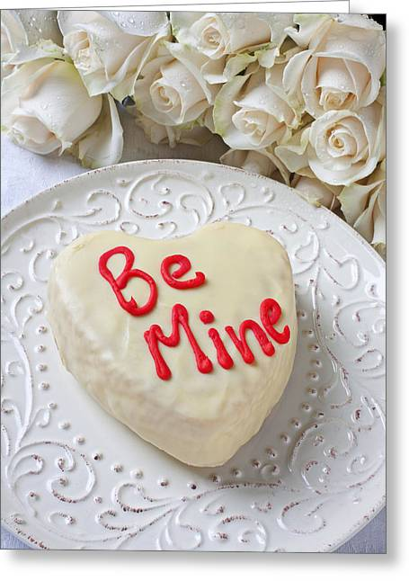 Be Mine Heart Cake Greeting Card by Garry Gay