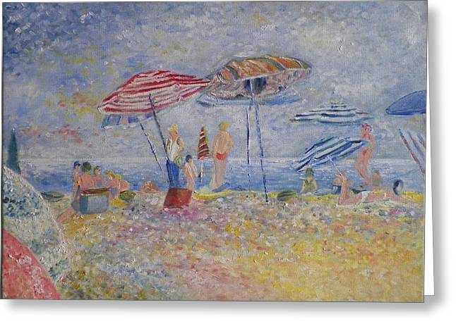 Beach Afternoon Greeting Card by B Russo