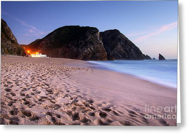 Beach At Evening Greeting Card by Carlos Caetano