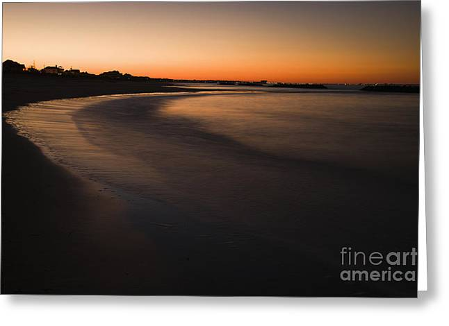 Beach At Sunset Greeting Card by Roberto Westbrook