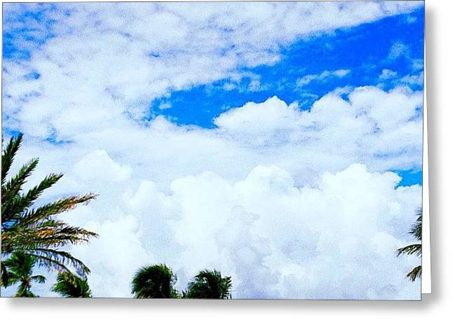 #beach #bestpic #beautiful #sea #sky Greeting Card