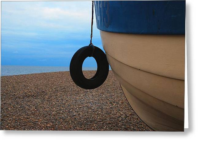Beach Boat Greeting Card by Duncan Nelson