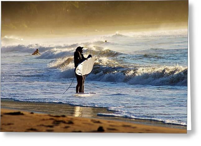 Beach Break Greeting Card by Lennie Green