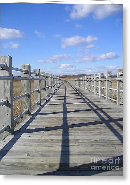 Beach Bridge Greeting Card by Silvie Kendall