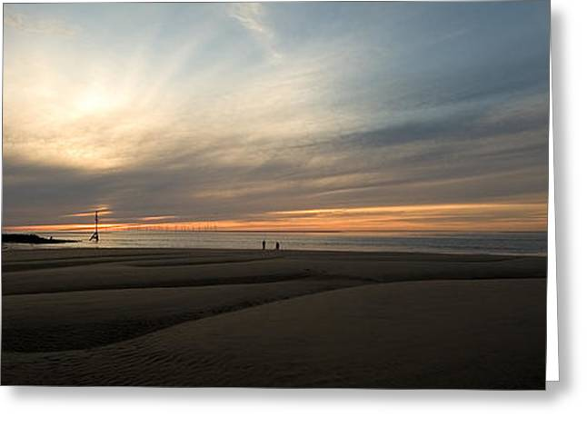 Beach Casters On The Wirral Greeting Card by Wayne Molyneux