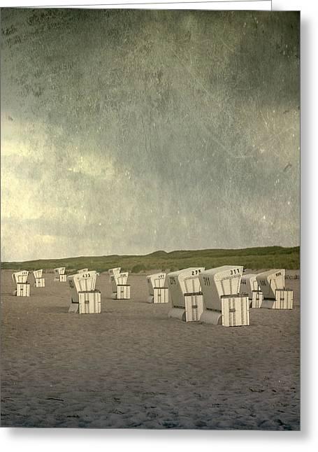 Beach Chairs Greeting Card by Joana Kruse