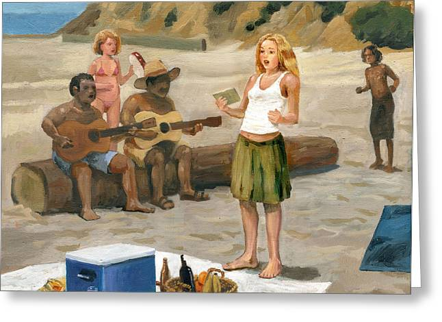 Beach Concert Greeting Card by John DeLorimier