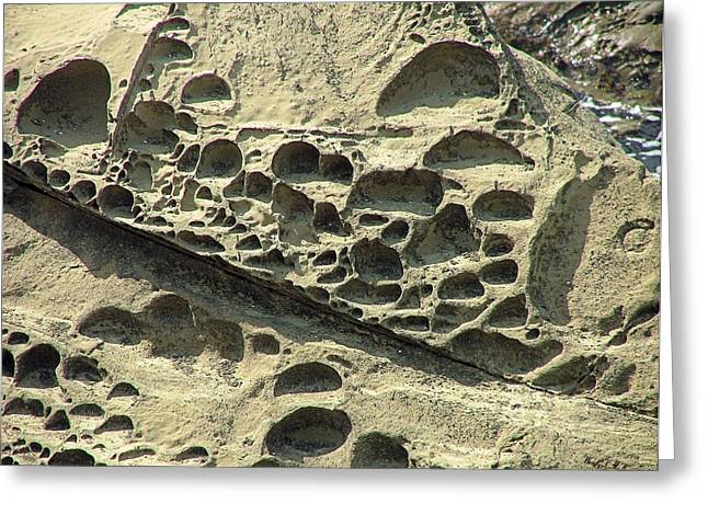 Beach Craters Greeting Card