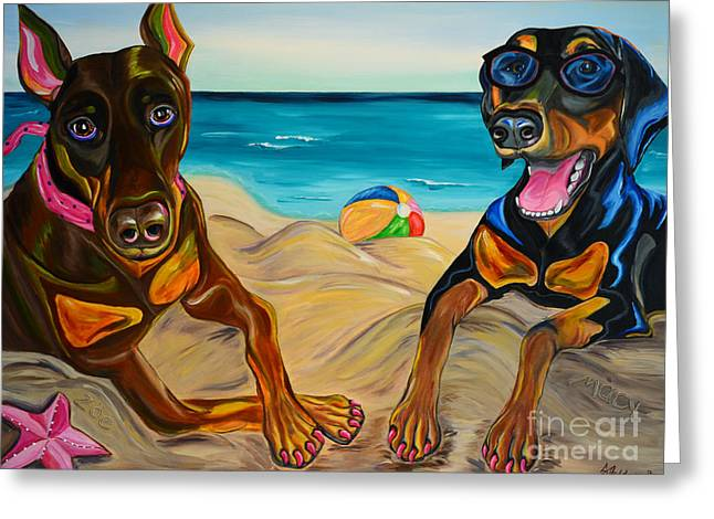 Beach Dawgs Greeting Card