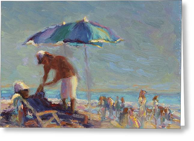 Beach Day Greeting Card by Michael Besoli