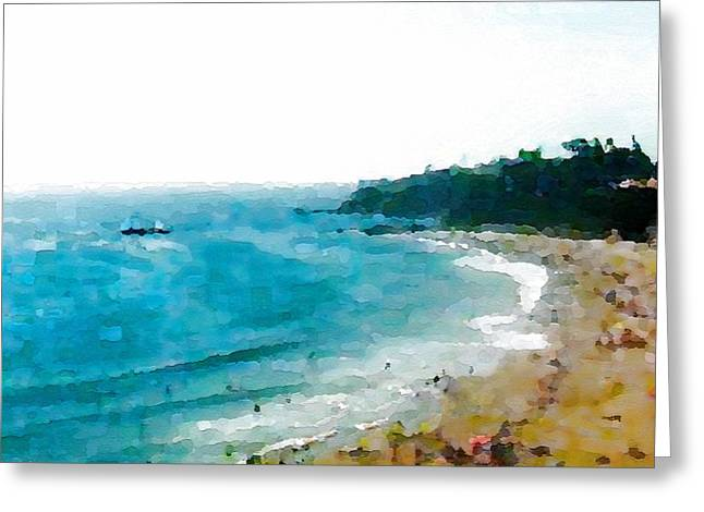 Beach Day Greeting Card by Paula Greenlee