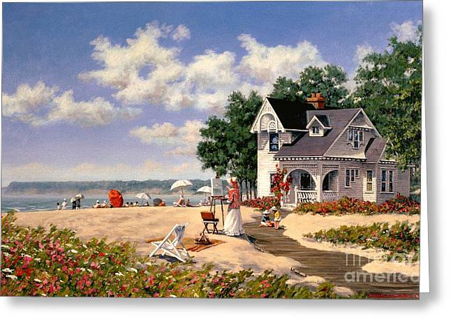 Beach Days Greeting Card by Michael Swanson