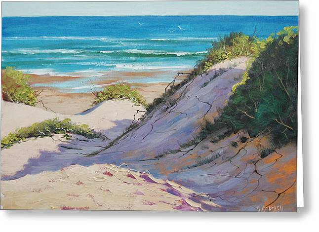 Beach Dunes Greeting Card by Graham Gercken