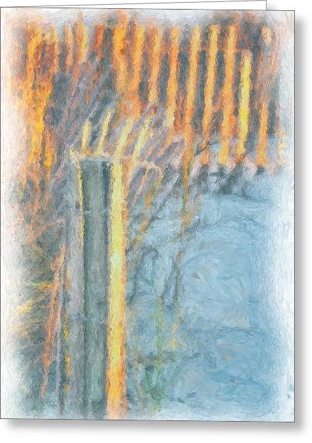 Beach Fence Greeting Card by Lynne Jenkins