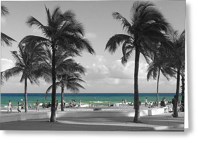 Greeting Card featuring the photograph Beach Fun by Raymond Earley