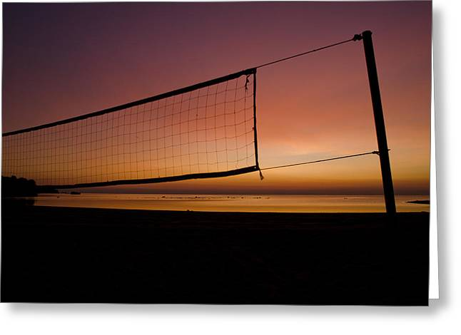 Greeting Card featuring the photograph Beach Games by Jason Naudi Photography