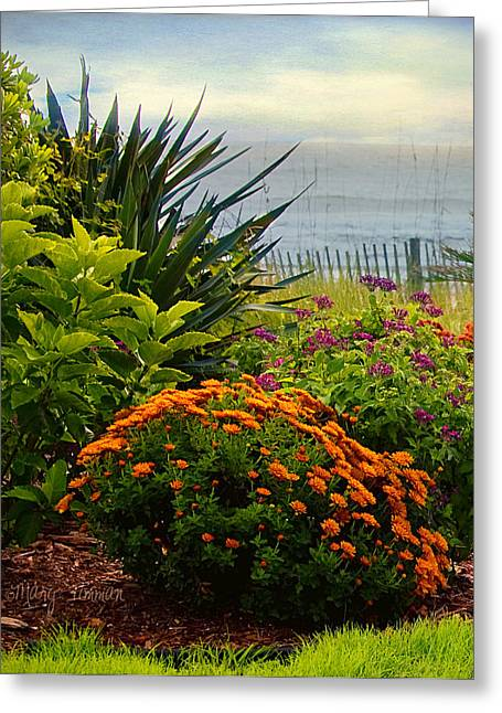 Greeting Card featuring the photograph Beach Garden by Mary Timman