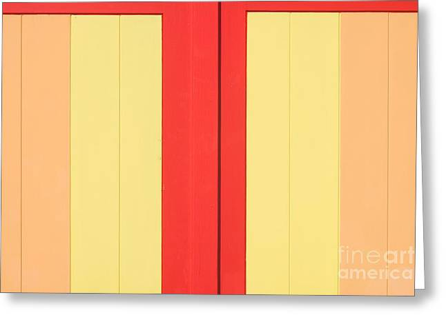 Beach House - Warm Colours I Greeting Card by Hideaki Sakurai
