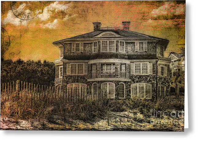 Beach House Postcard Greeting Card by Gina Cormier