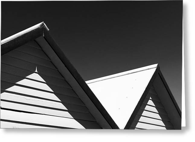 Beach Huts Greeting Card by Dave Bowman