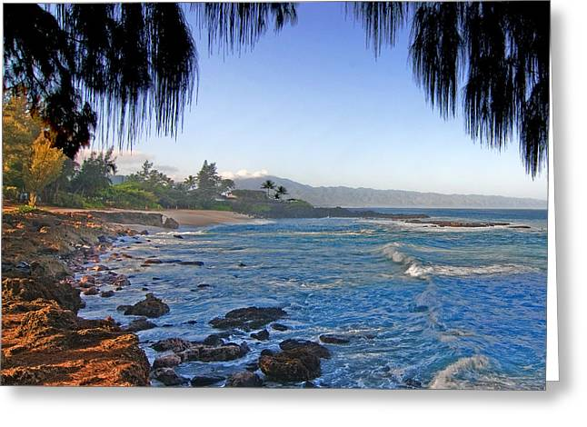 Beach On North Shore Of Oahu Greeting Card