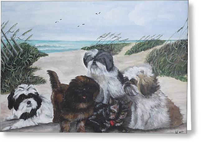 Beach Pals Greeting Card by Kim Selig