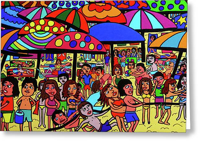 Beach Party Greeting Card by Karen Elzinga
