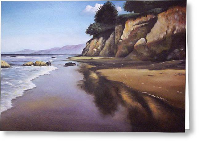 Beach Scene Greeting Card by Mike Worthen
