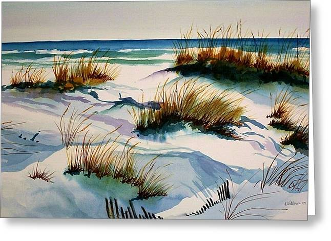 Beach Shadows Greeting Card