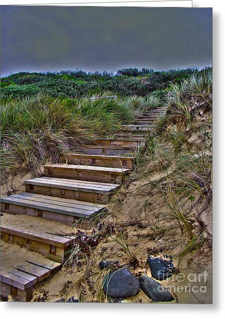 Beach Stairs Greeting Card by Joanne Kocwin