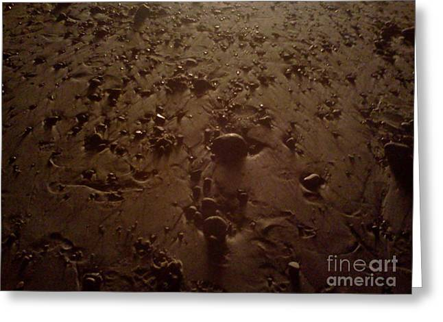 Beach Stones At Night Greeting Card by Wendy Marelli