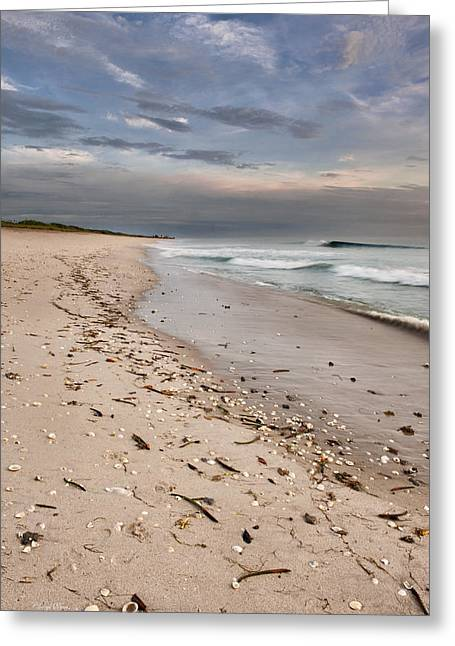 Beach Sunrise Greeting Card by Cheryl Davis
