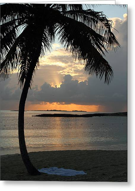 Greeting Card featuring the photograph Beach Sunset by Coby Cooper