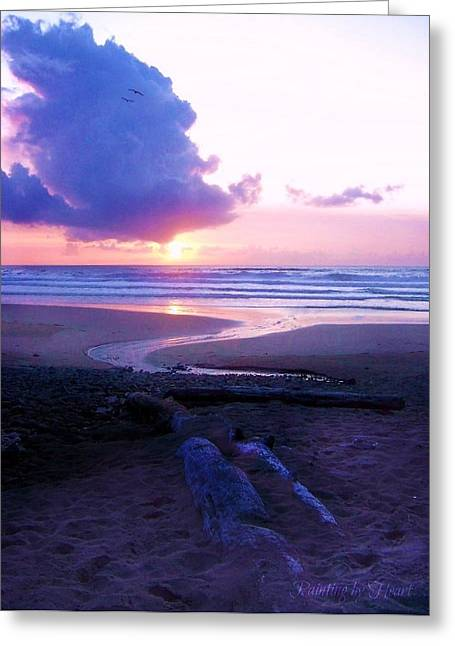 Greeting Card featuring the photograph Beach Time by Deahn      Benware