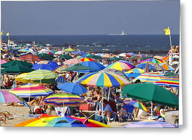 Beach Umbrella Panorama Photograph By Kelly S Andrews