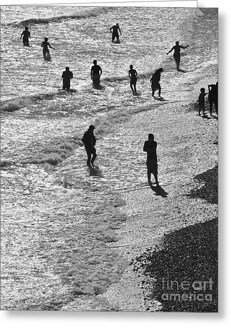 Beach Walkers 2 Greeting Card by Tim Bird
