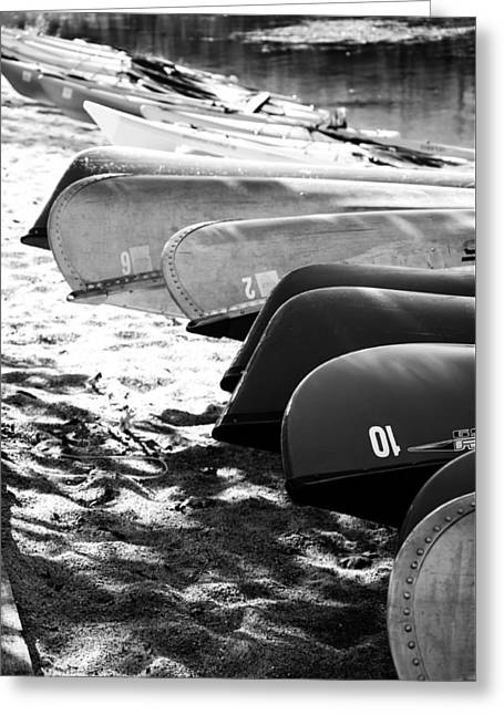 Beached Kayaks Greeting Card by Julia Wilcox