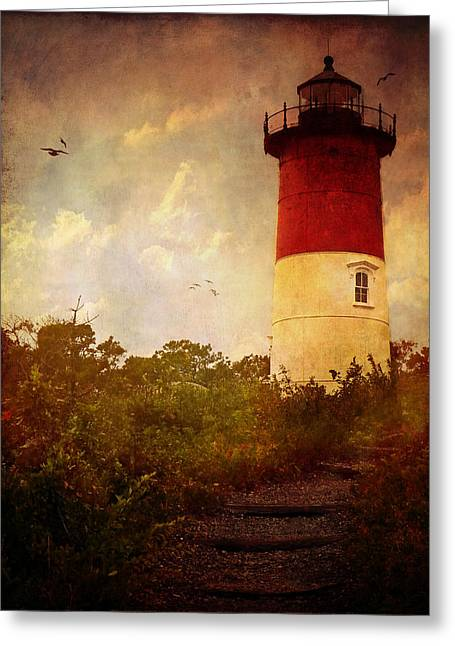 Beacon Of Hope Greeting Card by Lianne Schneider