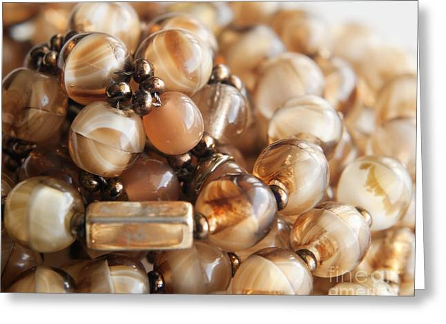 Bead Necklace Greeting Card by Blink Images