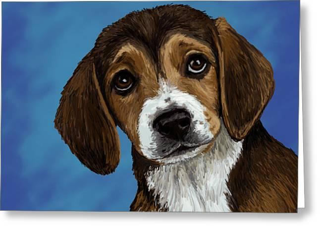 Beagle Eyes Greeting Card by Melanie Whitaker