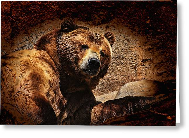 Bear Artistic Greeting Card by Karol Livote