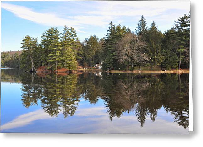 Bear Creek Lake Greeting Card by Bill Cannon