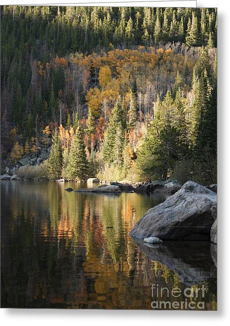 Greeting Card featuring the photograph Bear Lake by Marta Alfred