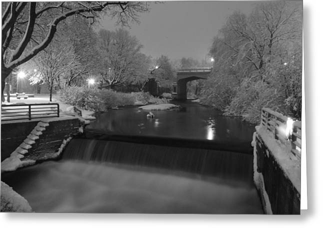 Bear River After Fresh Snow Greeting Card