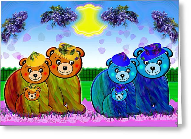 Bears Greeting Card by Victoria Regueira