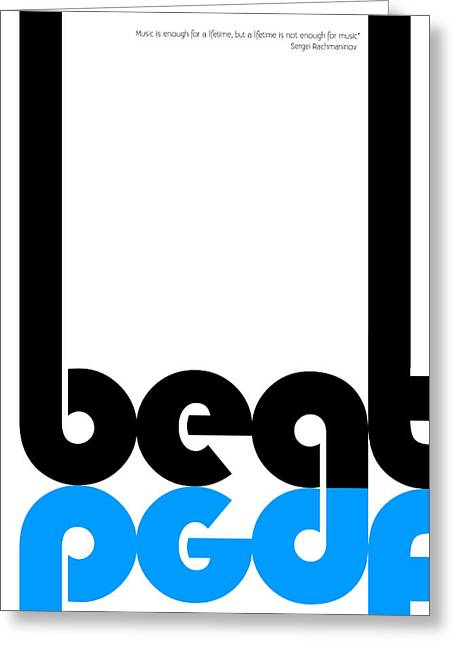 Beat Poster Greeting Card by Naxart Studio