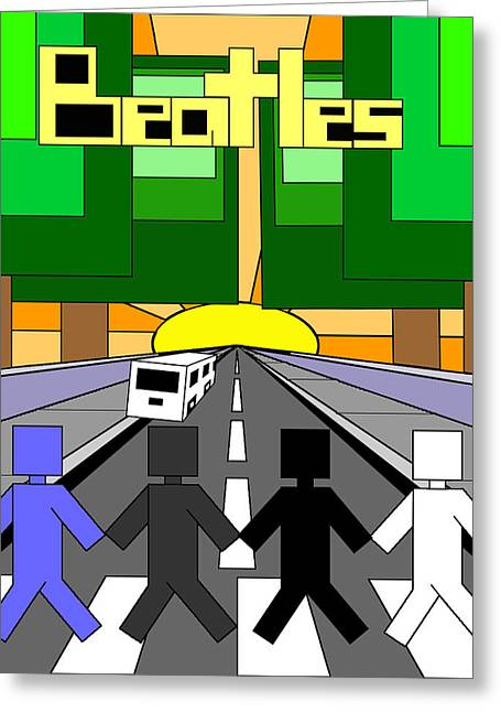 Beatles Abby Road Greeting Card by Brian Roberts