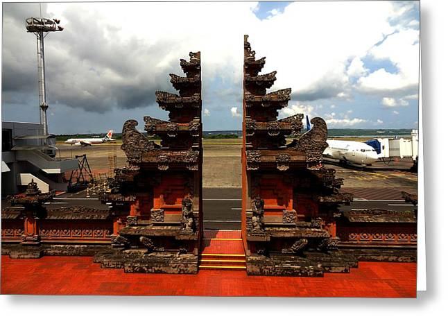 Beautiful Bali Airport Greeting Card