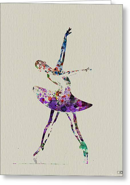 Beautiful Ballerina Greeting Card by Naxart Studio