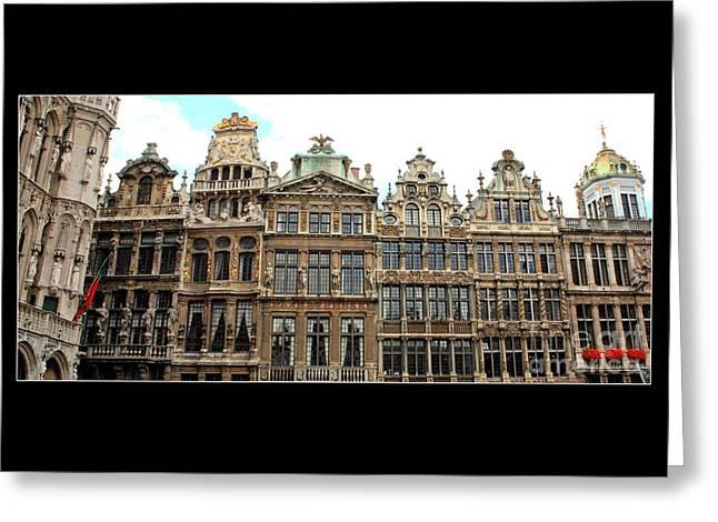 Beautiful Belgian Buildings - Digital Art Greeting Card